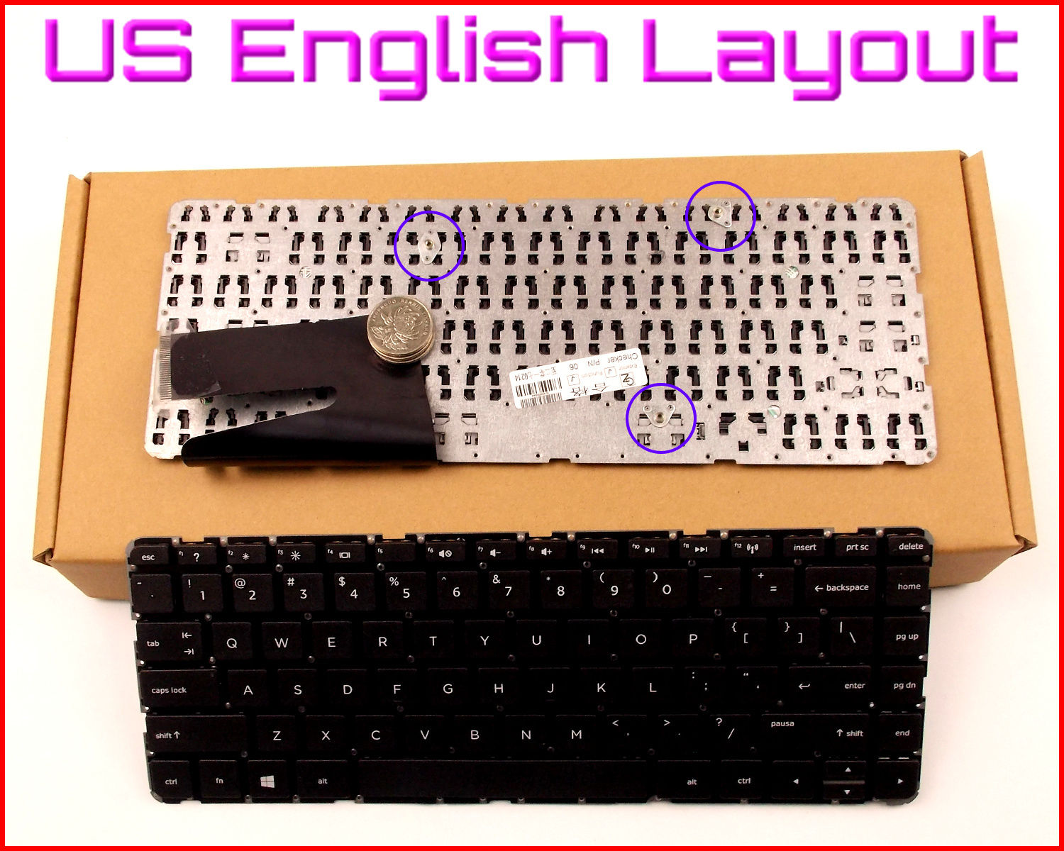 Bàn Phím - Keyboard Keyboard for HP Pavilion 14-F027CL