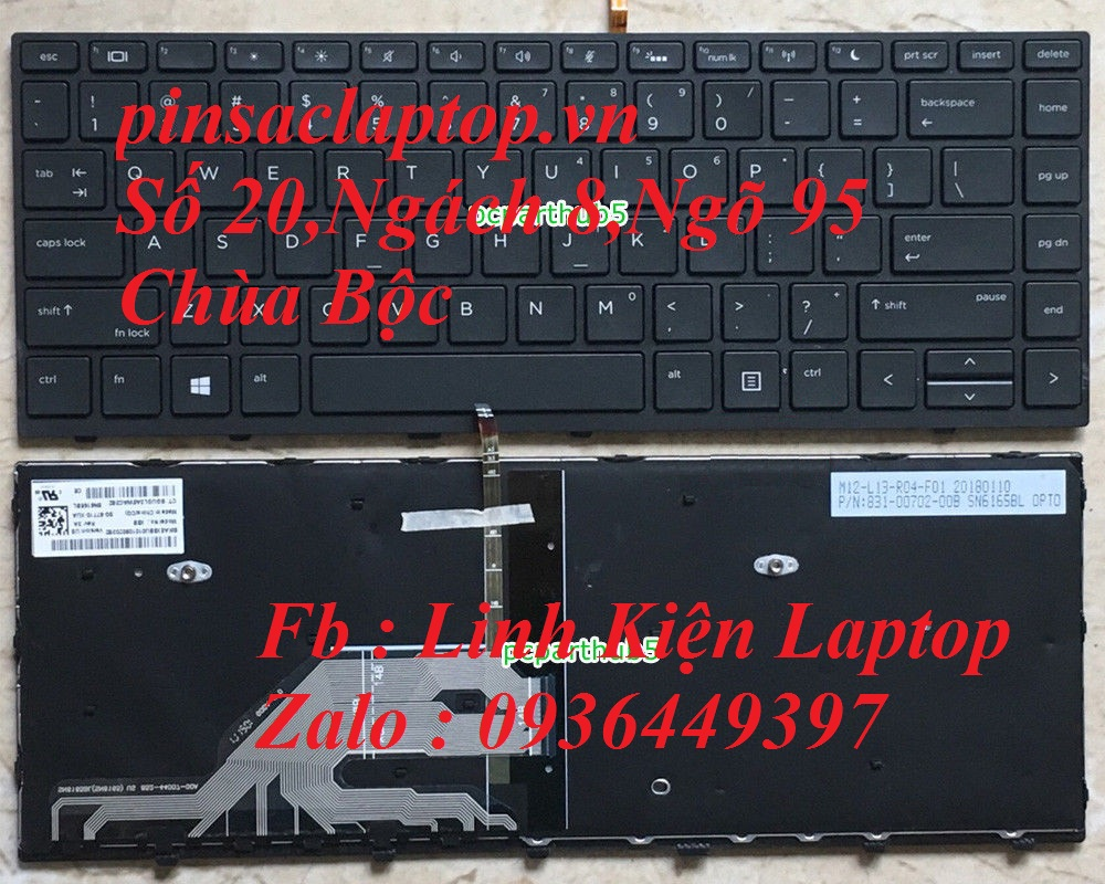 Bàn Phím - Keyboard HP Probook 430 G5 US Backlit