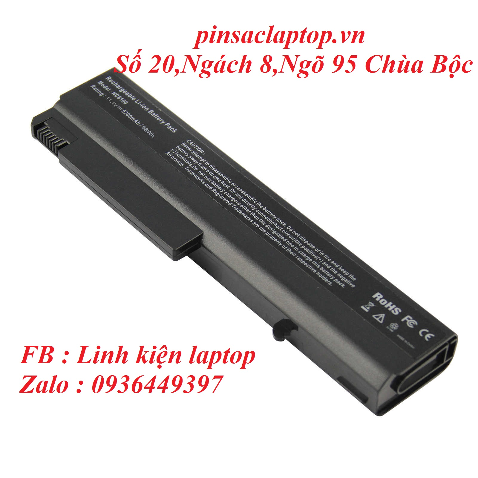 Pin - Battery Laptop HP Compaq 6710s