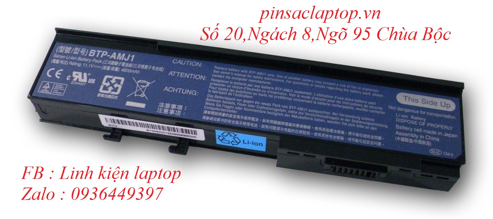 Pin - Battery Laptop Acer Aspire 2420