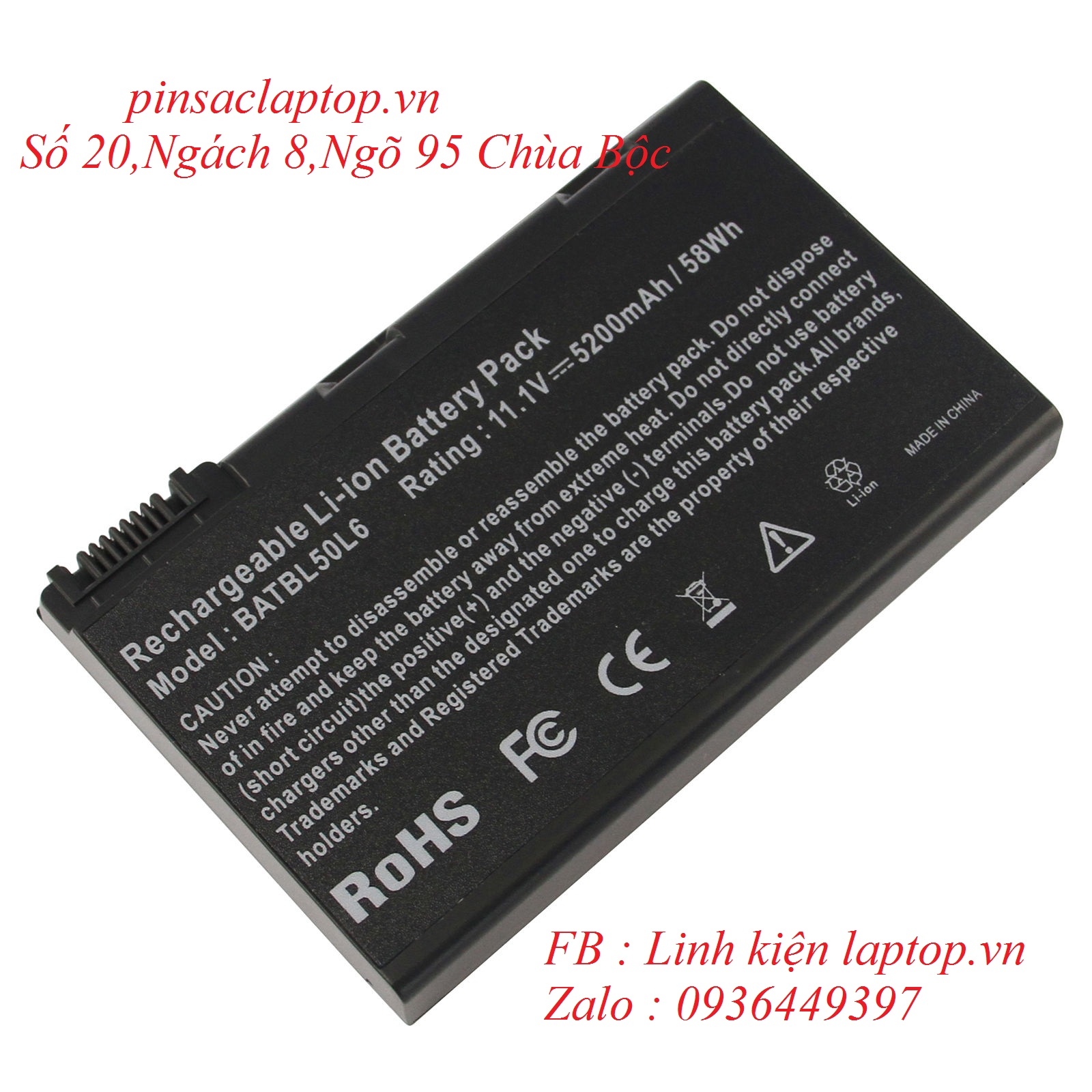 Pin - Battery Laptop Acer Extensa 5220