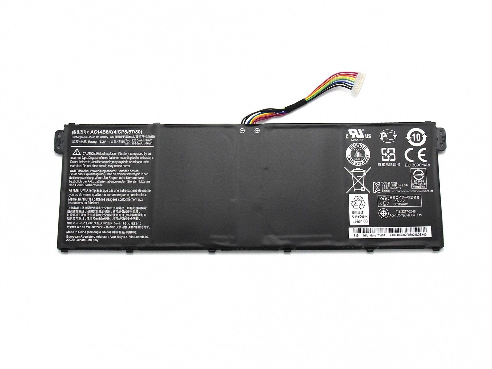 pin laptop acer aspire es1 512 battery zin original. Black Bedroom Furniture Sets. Home Design Ideas