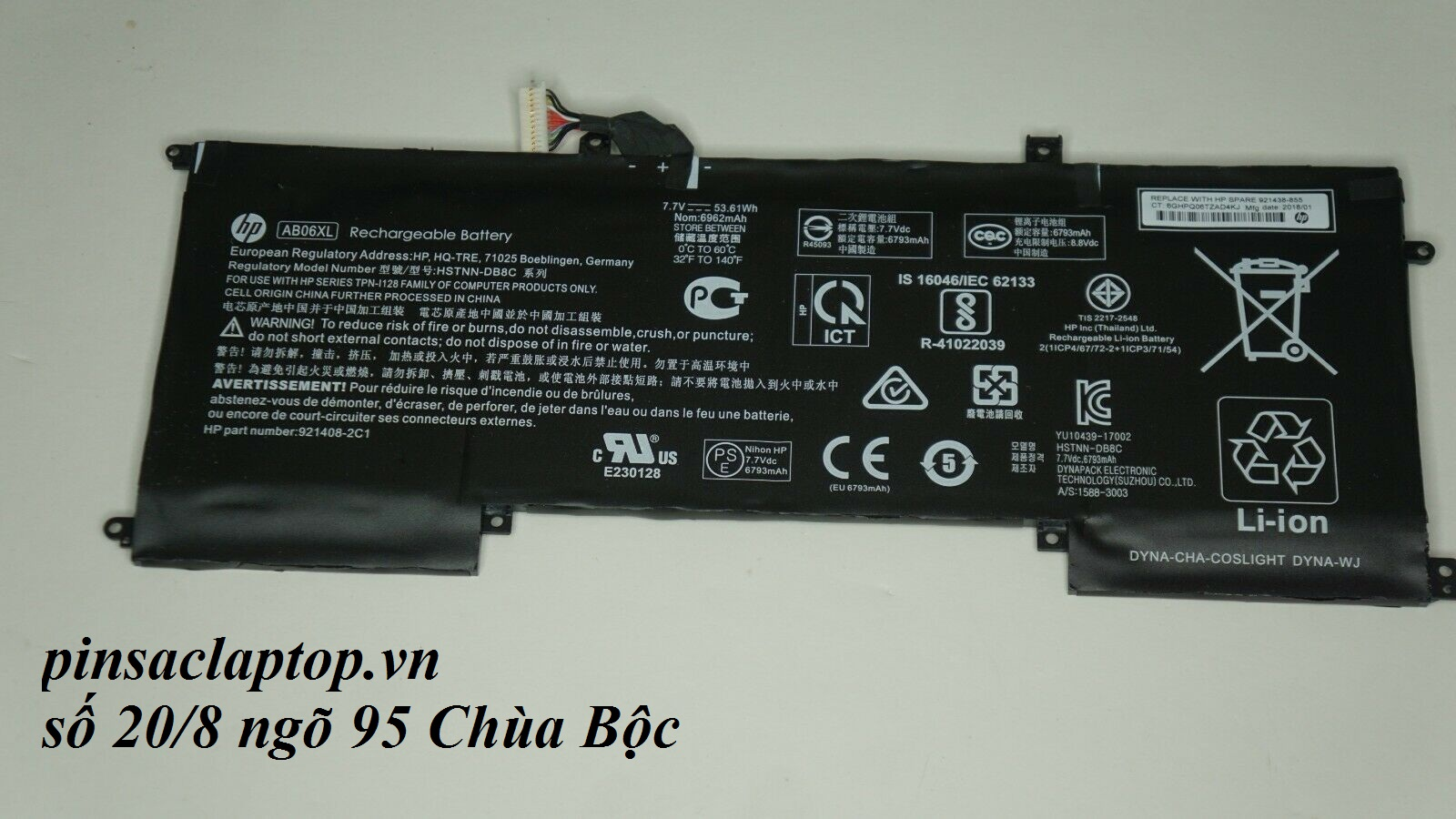 Pin - AB06XL Battery HP Envy 13-AD023TU