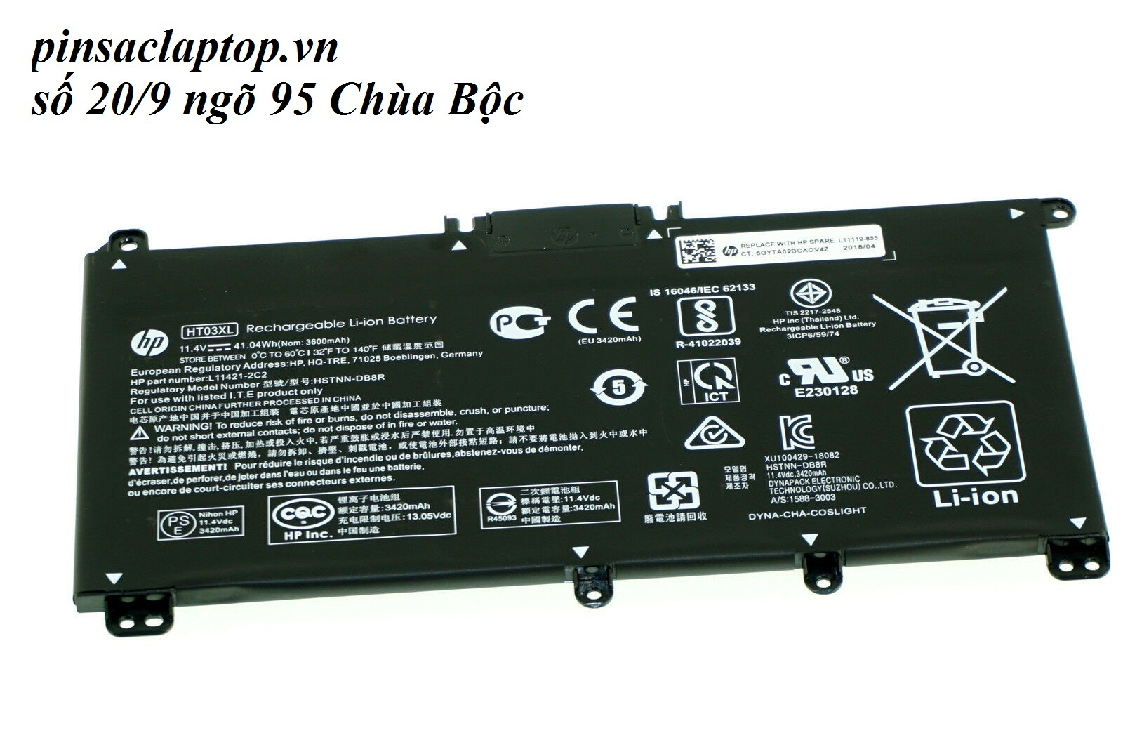 Pin -  HT03XL Battery for HP 14-ck series 14-ck0065ST 14-ck0068TU
