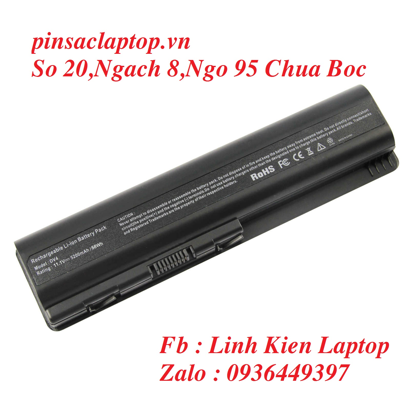 Pin HP - Battery Pavilion DV4 - 1000