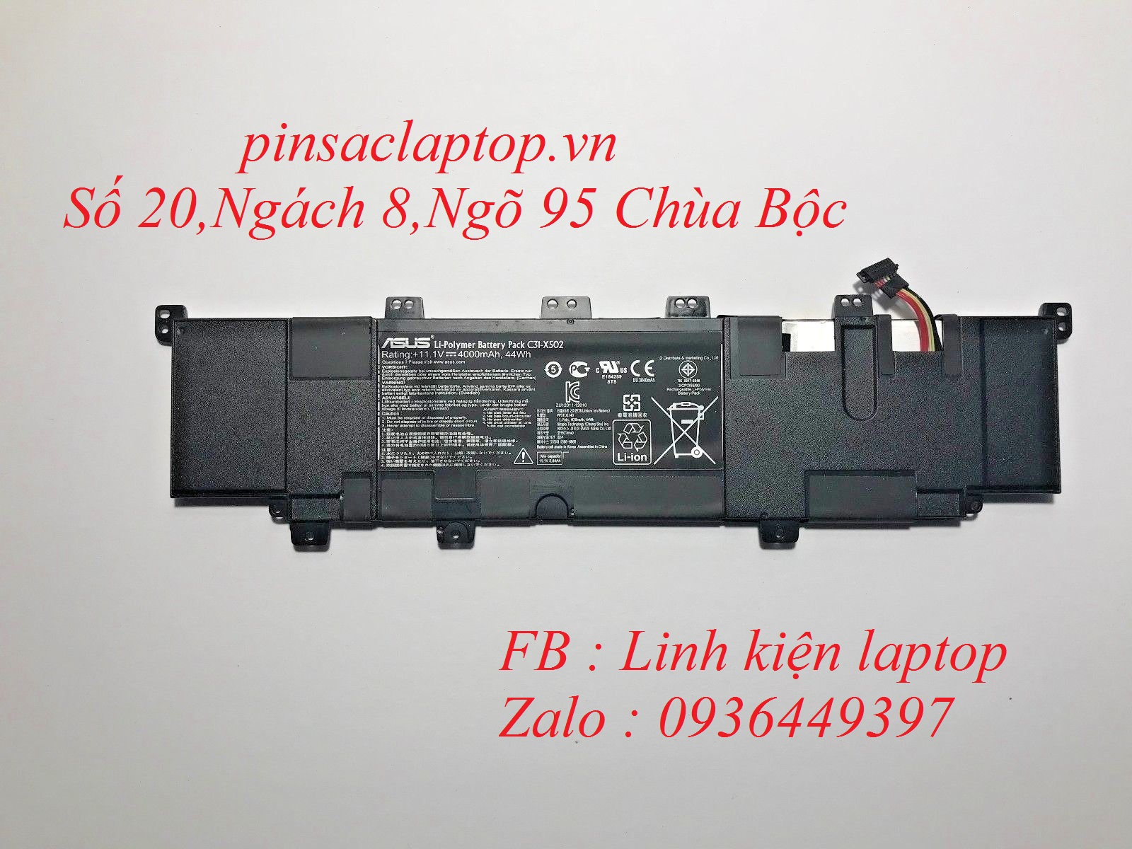 Pin - Battery Laptop Asus Vivobook X502
