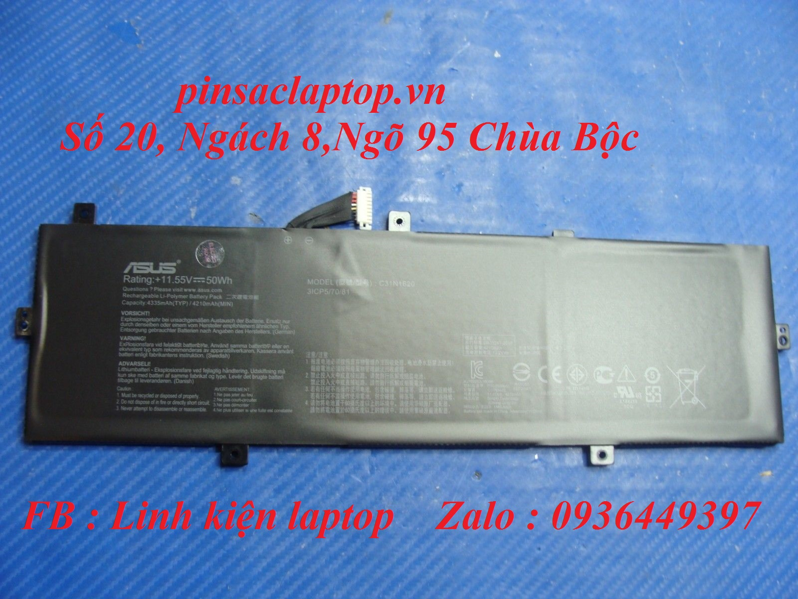 Pin Asus - Battery Laptop Asus Zenbook UX430U