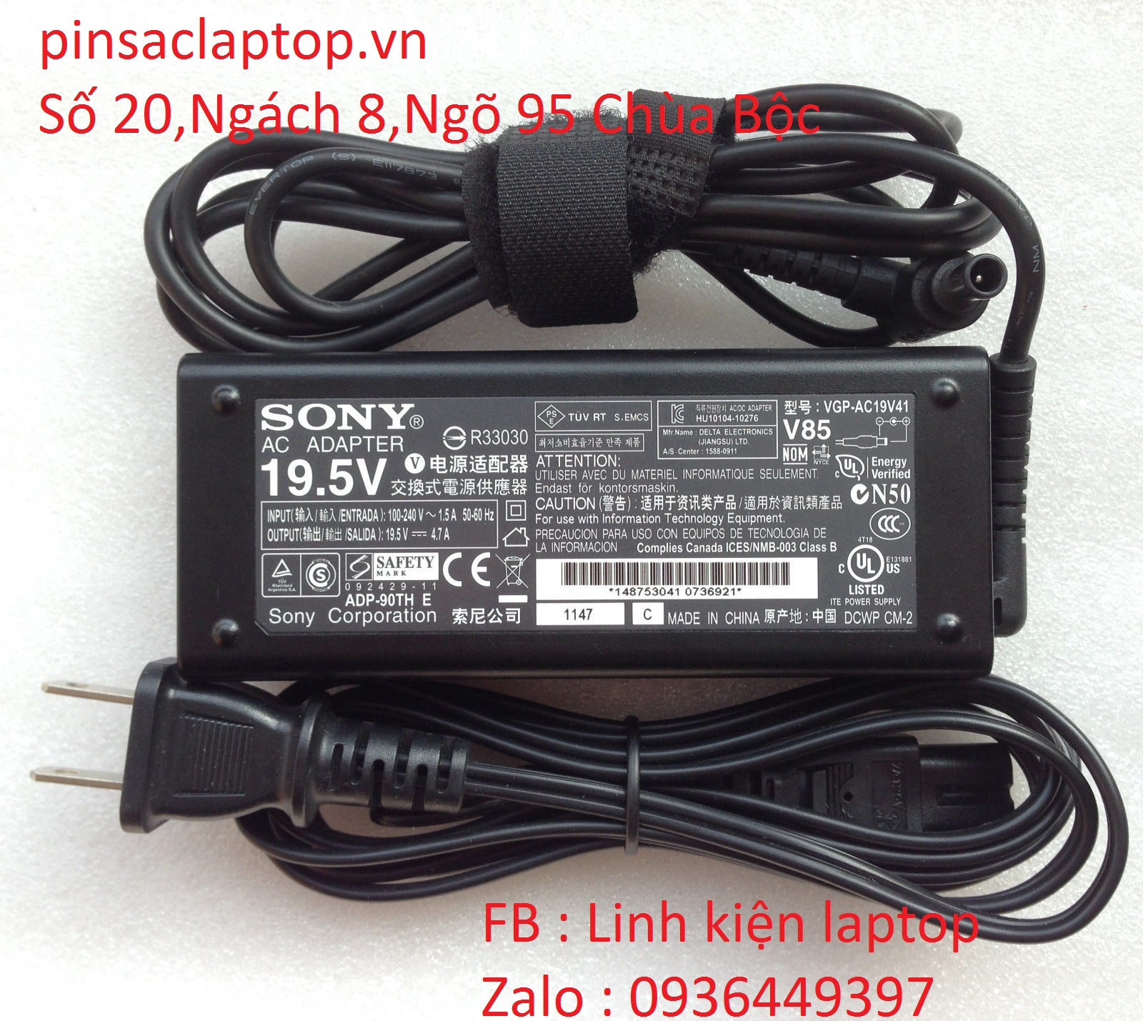 Sạc Adapter Laptop Sony VAIO PCG-71614L Notebook