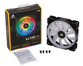Quạt case Corsair LL120 RGB 120mm - Single Pack